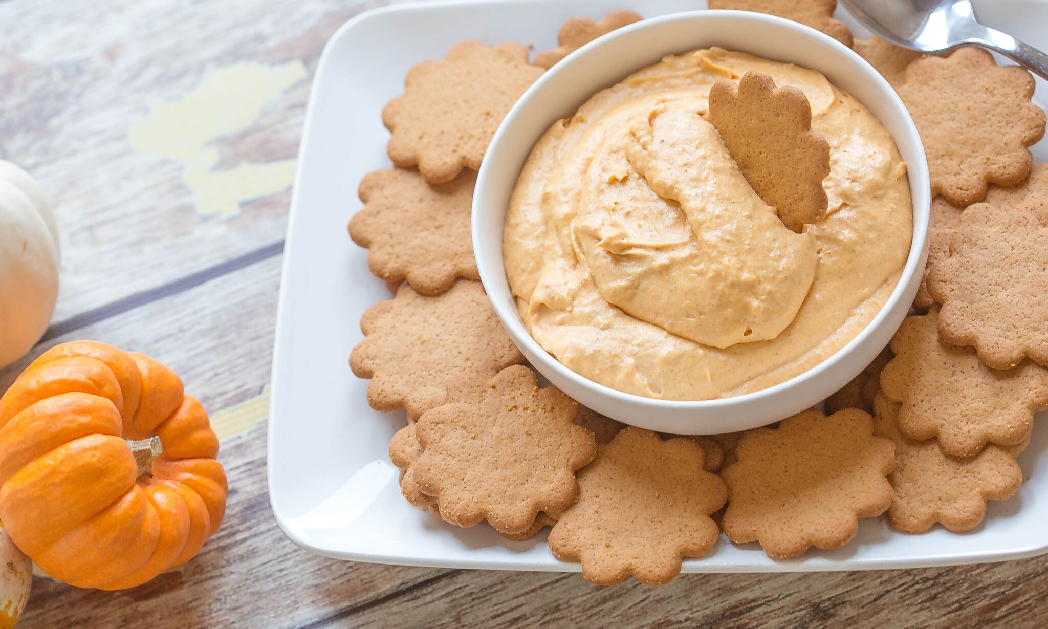 Serve chilled pumpkin dip with your favorite cookie.
