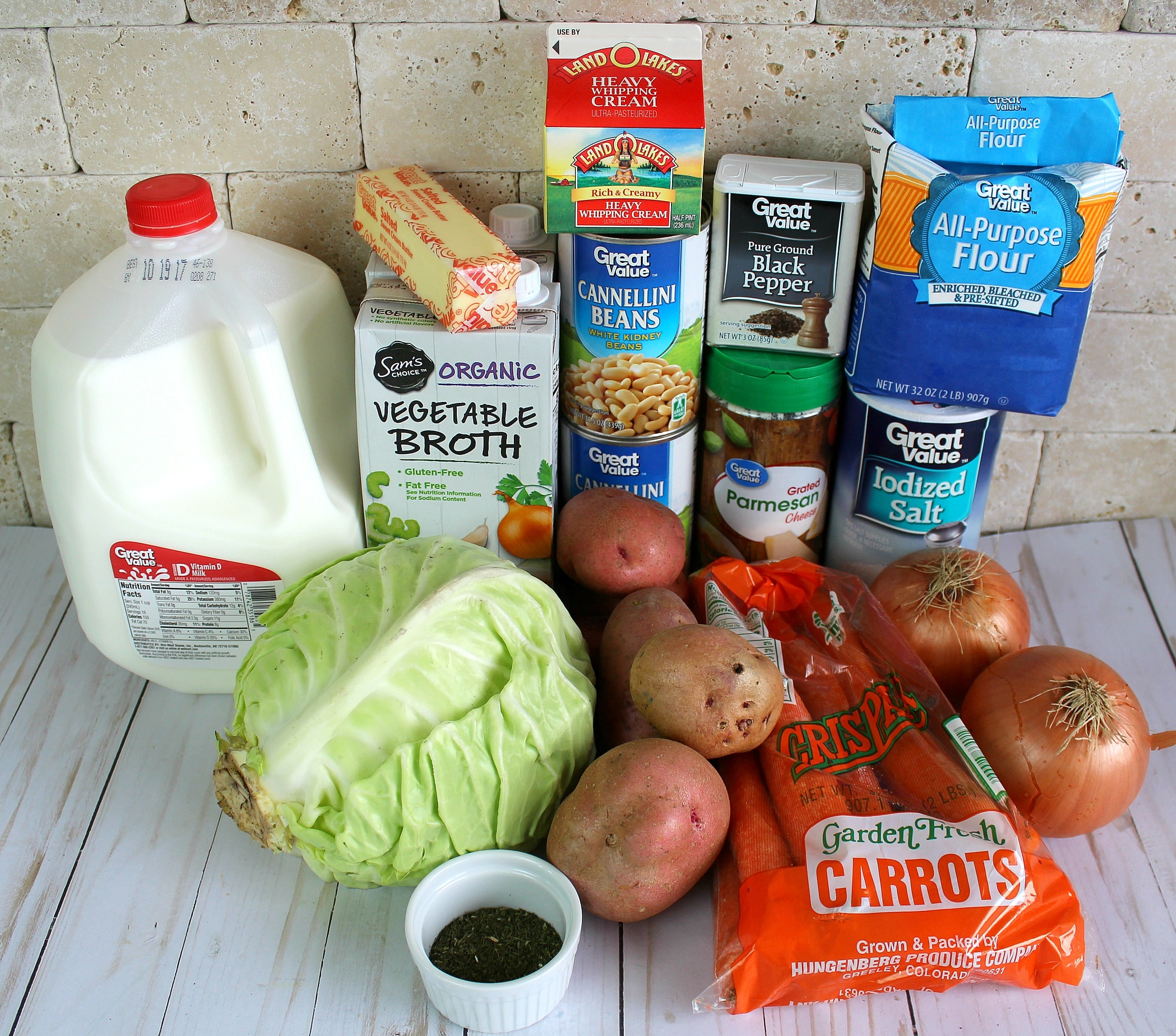 Cream of Cabbage Soup ingredients