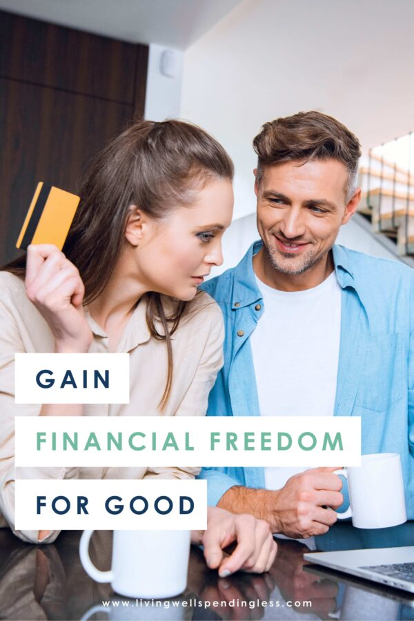 Feel like you'll never reach financial freedom? If so, know that while it might be challenging, it's VERY DOABLE! These 8 strategies will help you get out of debt and gain financial freedom for good! #financialfreedom #debtfree #debtfreeliving #moneysavingtips #moneyhacks #moneymanagement #daveramsey #financialpeace #fpu #smartmoney