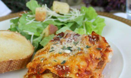 """""""Meaty"""" Vegetarian Lasagna"""