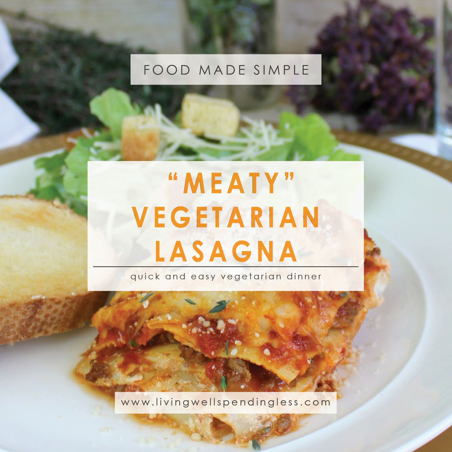 Easy meaty vegetarian lasagna recipe living well spending less easy meaty vegetarian lasagna quick easy vegetarian meal hearty vegetable lasagna recipe meaty forumfinder Images