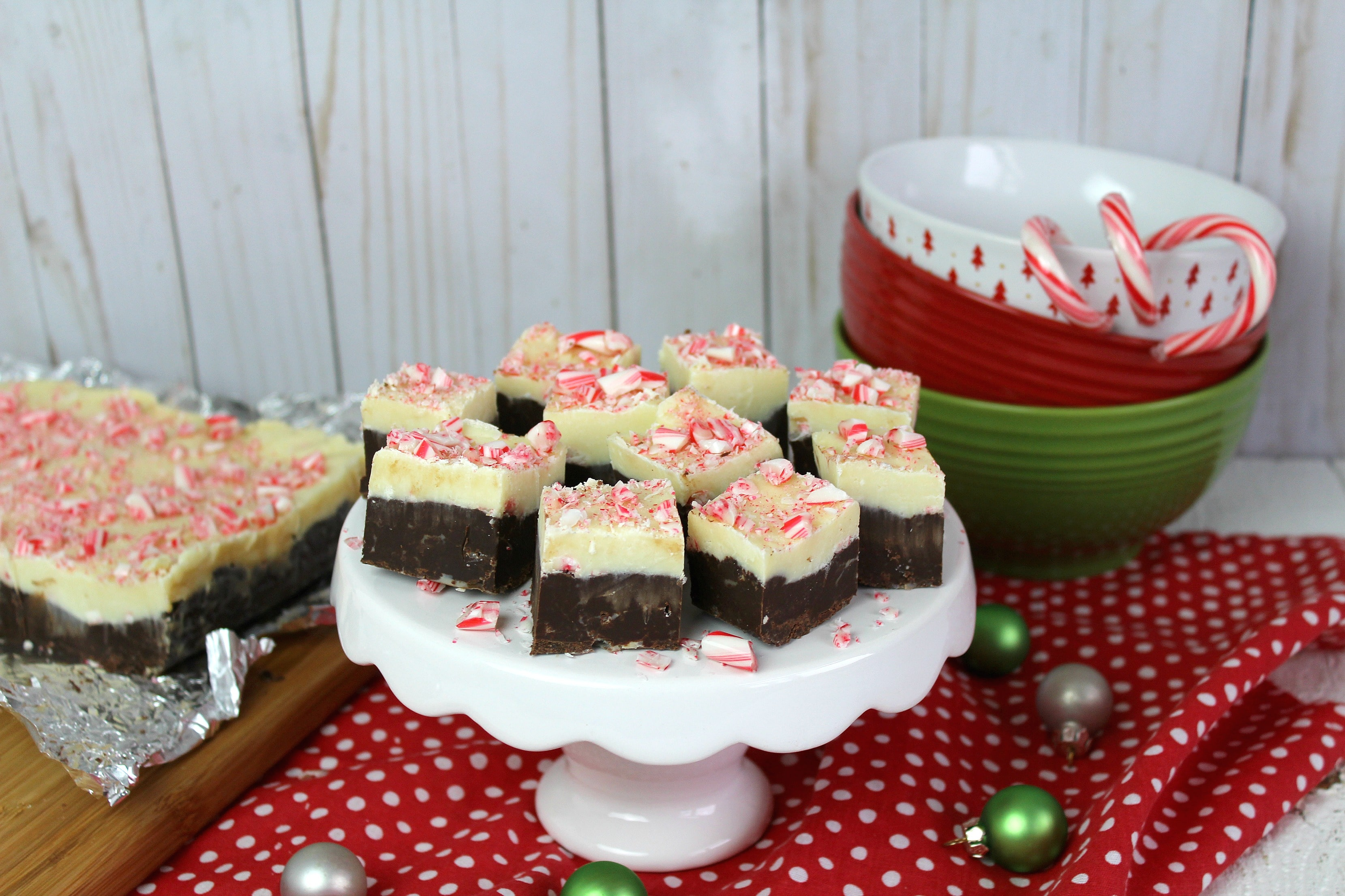 Everyone will love the festive look and delicious taste of Easy Peppermint Bark Fudge!
