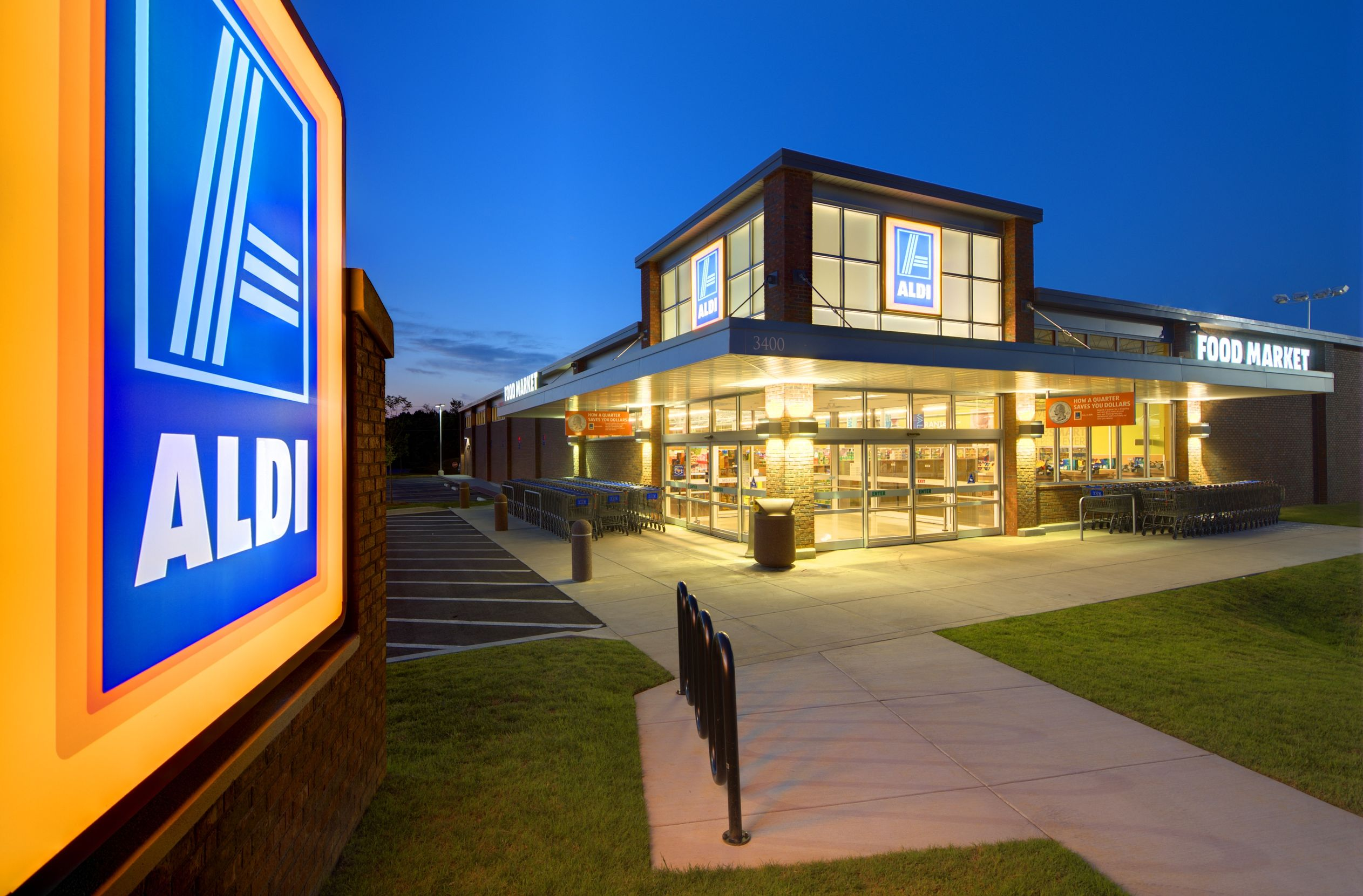 Shop at stores like Aldi to save on groceries.