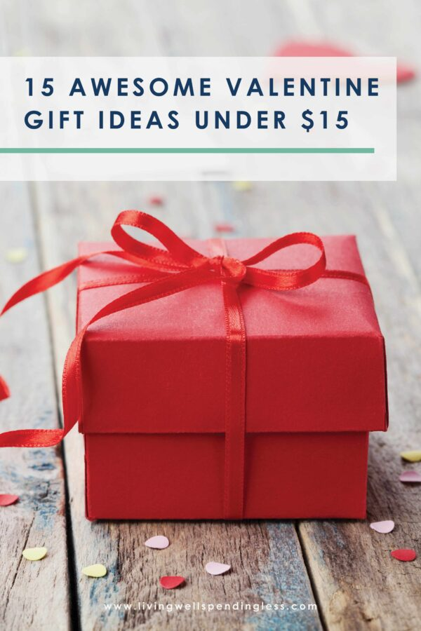 Want to treat your honey (or family) to something sweet this year without breaking the bank? We're gonna help eliminate some of the stress of picking out the perfect gift. Check out our guide to 15 awesome Valentine gifts under $15! #valentinesday #giftsforhim #giftsforher #giftsforkids #giftguides #cheapgifts #inexpensivegifts #valentinesdaygifts