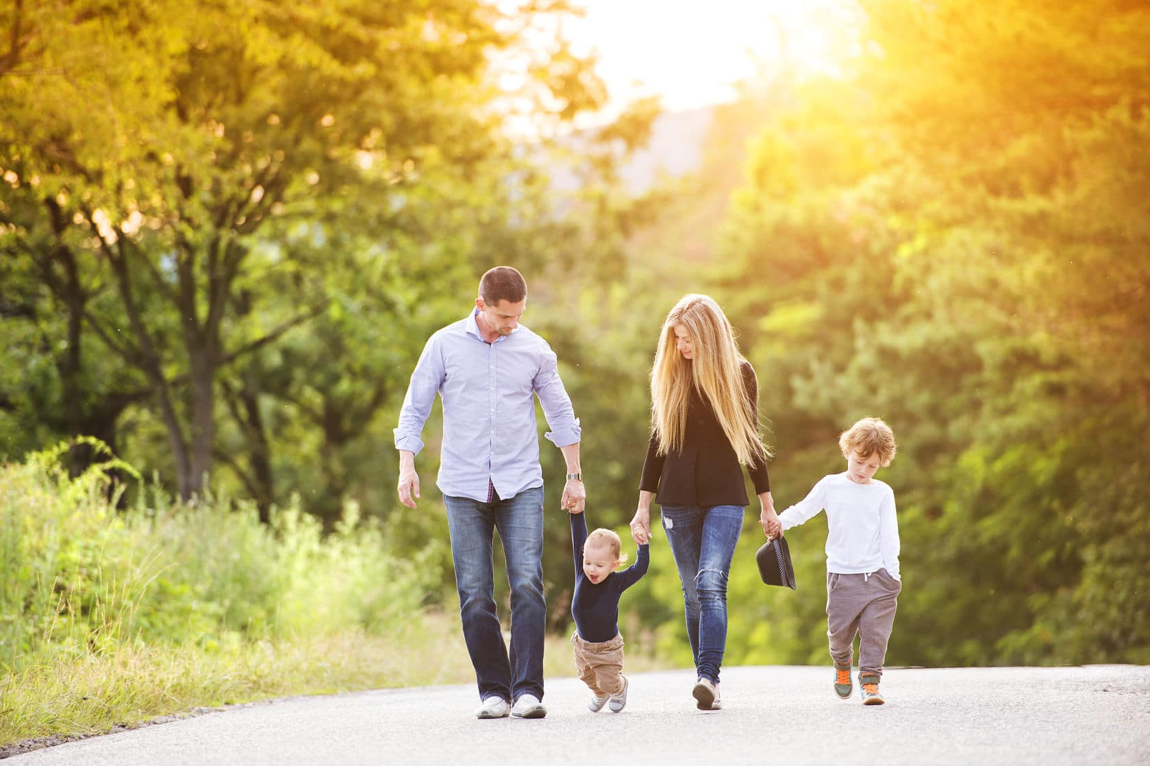 Getting outdoors is an inexpensive way for families to have fun.