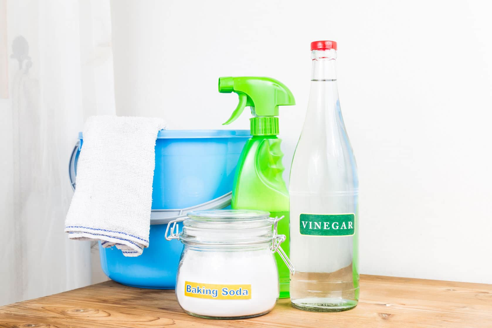 Make your own cleaning products to save money.