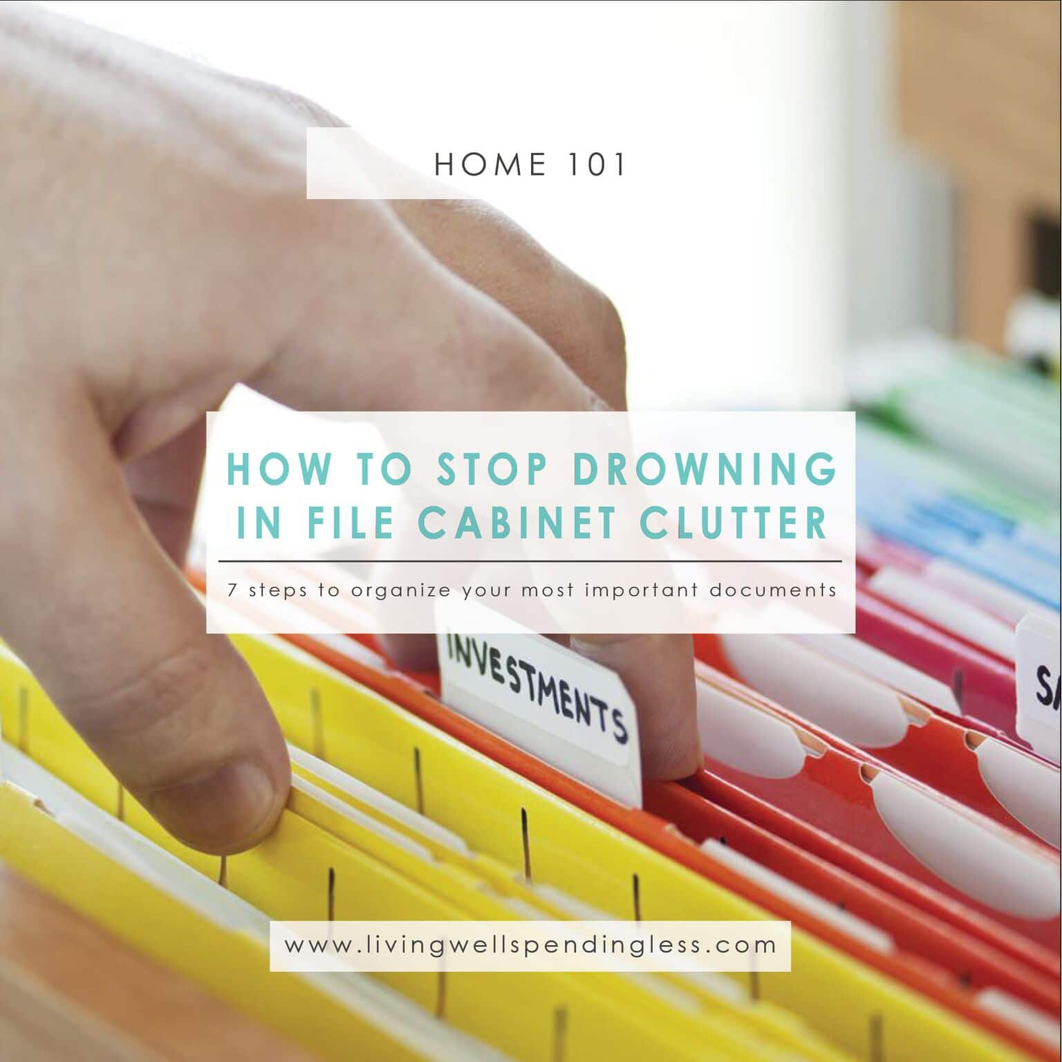 How To Stop Drowning In File Cabinet Clutter Declutter Your Files Organize