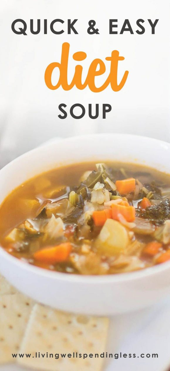 Am I the only one that ate a few too many goodies during the holidays? No? Then maybe you will enjoy my famous Winter Diet Soup recipe. It's healthy, flavorful, and will help you shed some holiday pounds. Just one batch can last a whole week, so it's budget friendly too!
