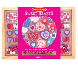 Sweethearts Wooden Beads Set for Necklace and Jewelry Making | 15 Awesome Valentine Gift Ideas Under $15