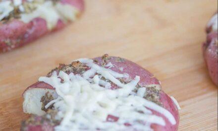 Smashed Pecorino Romano Potatoes