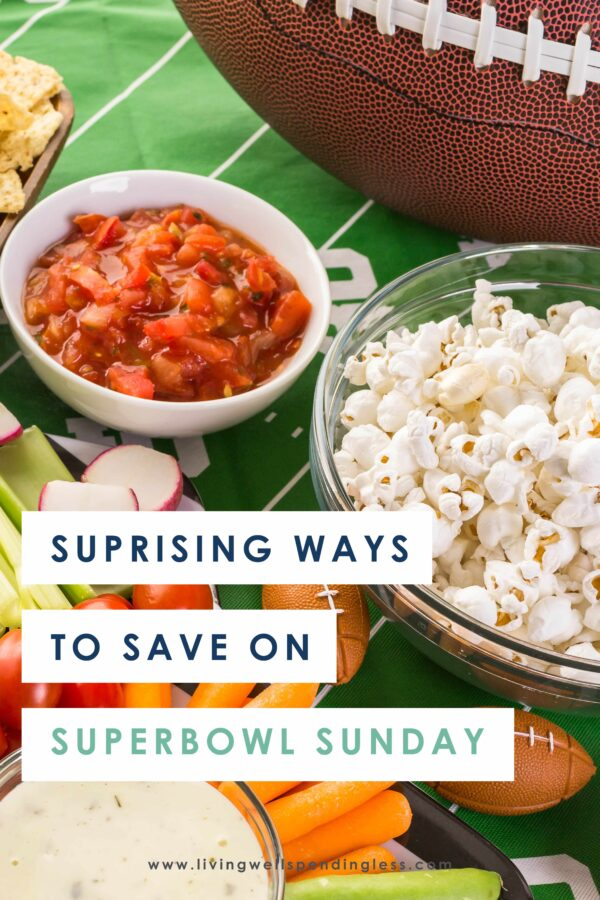The Super Bowl is an easy occasion to bring everyone together, but it can also be an expensive one if you're not careful. So we've put together our best tips to help you save big, still have a feast, without sacrificing any of the fun, and enjoy your Super Bowl party. #superbowlparty #potluck #smartsavings #partyonabudget #superbowlsavings #superbowlpotluck #partysavingtips
