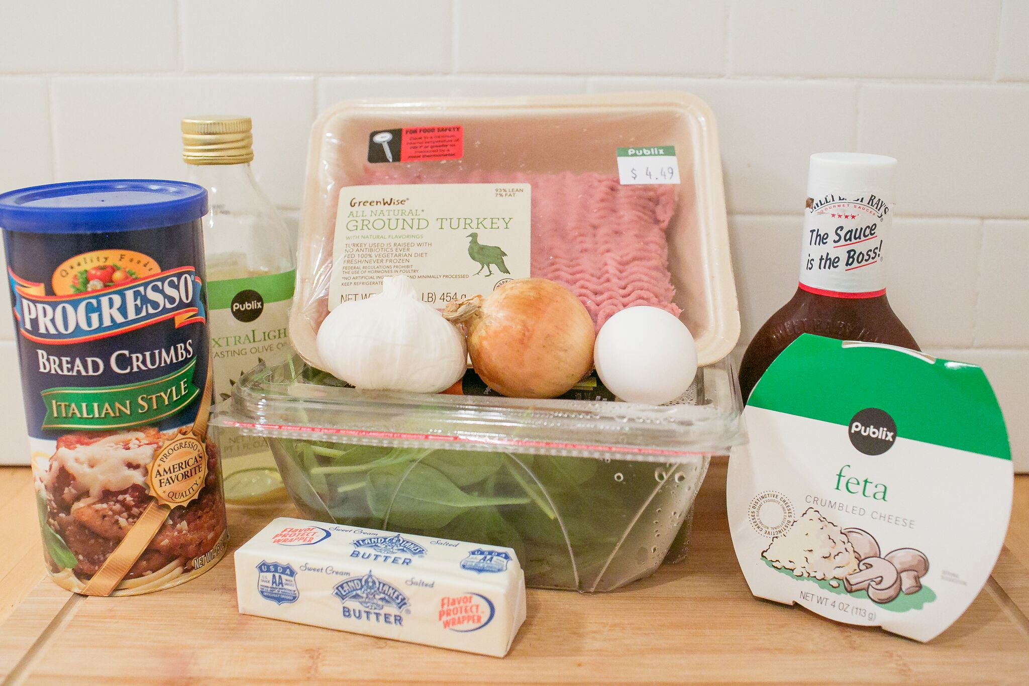 Ingredients for this simple meatloaf recipe