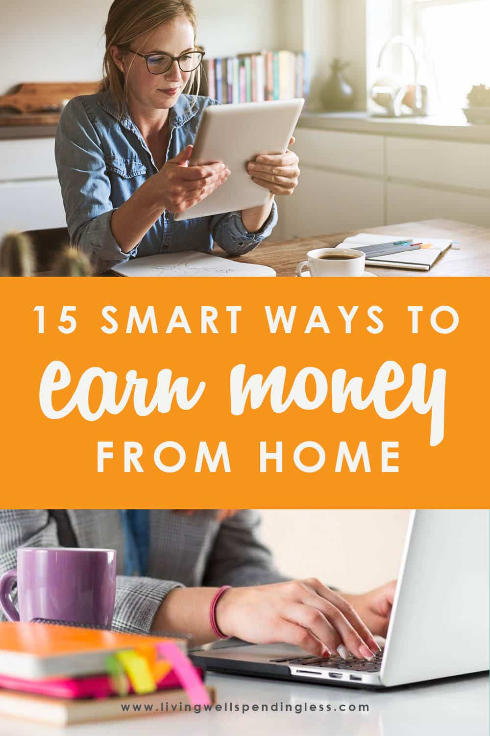 Whether you're looking to start a business or supplement your current income, this post offers the 15 best work from home jobs to make money starting now! #workfromhome #makemoneyonline #workfromhomejobs #bestworkfromhomejobs #makemoneyonline