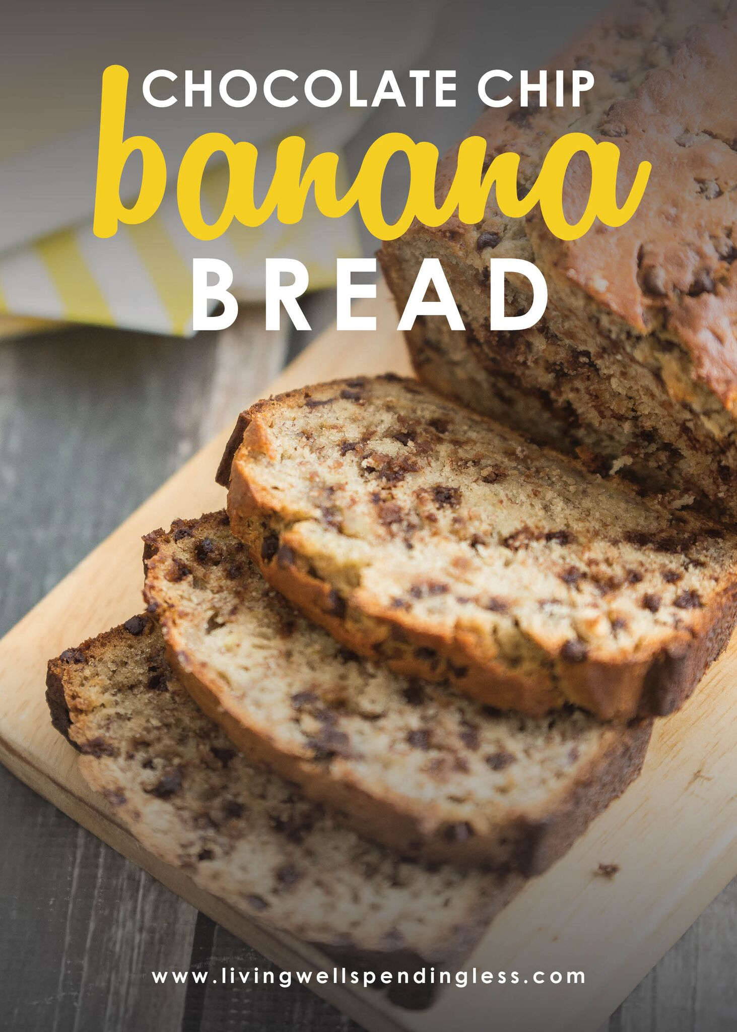 Chocolate Chip Banana Bread⎢My Husband's Secret Banana Bread Recipe⎢Brunch Recipe⎢Food Made Simple⎢Sweet Breakfast Food⎢Bananas⎢Kid Friendly Breakfast
