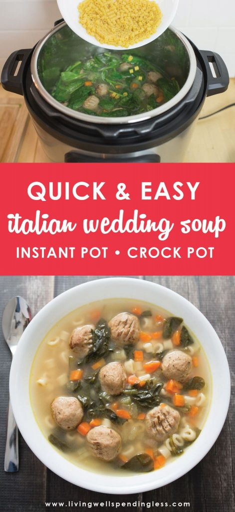 Easy Italian Wedding Soup | Instant Pot Soup Recipe | Crock Pot Soup Recipe | Food Made Simple | Quick Dinner Recipe | Best Italian Wedding Soup Recipe