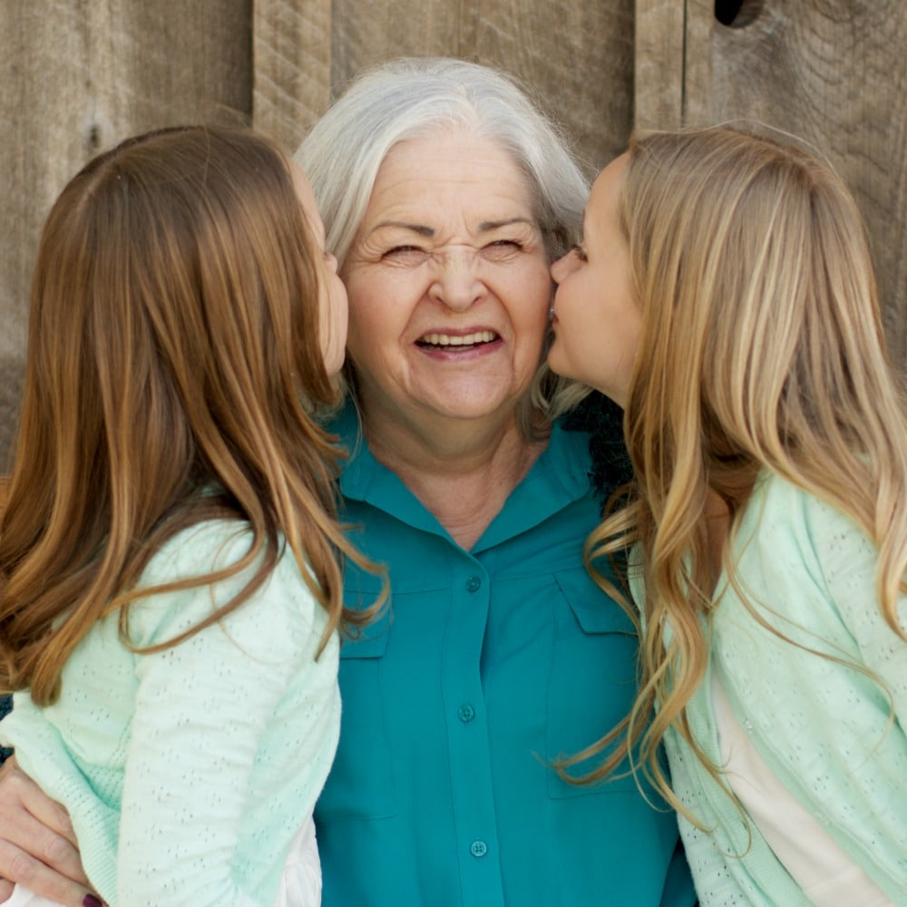 Ruth's mother and her loving granddaughters