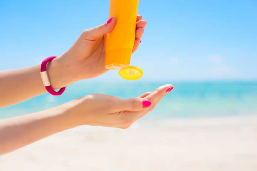 Protecting your skin with sunscreen is important as you age.