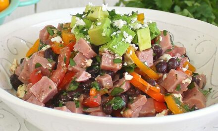 Fresh Ham and Black Bean Salad