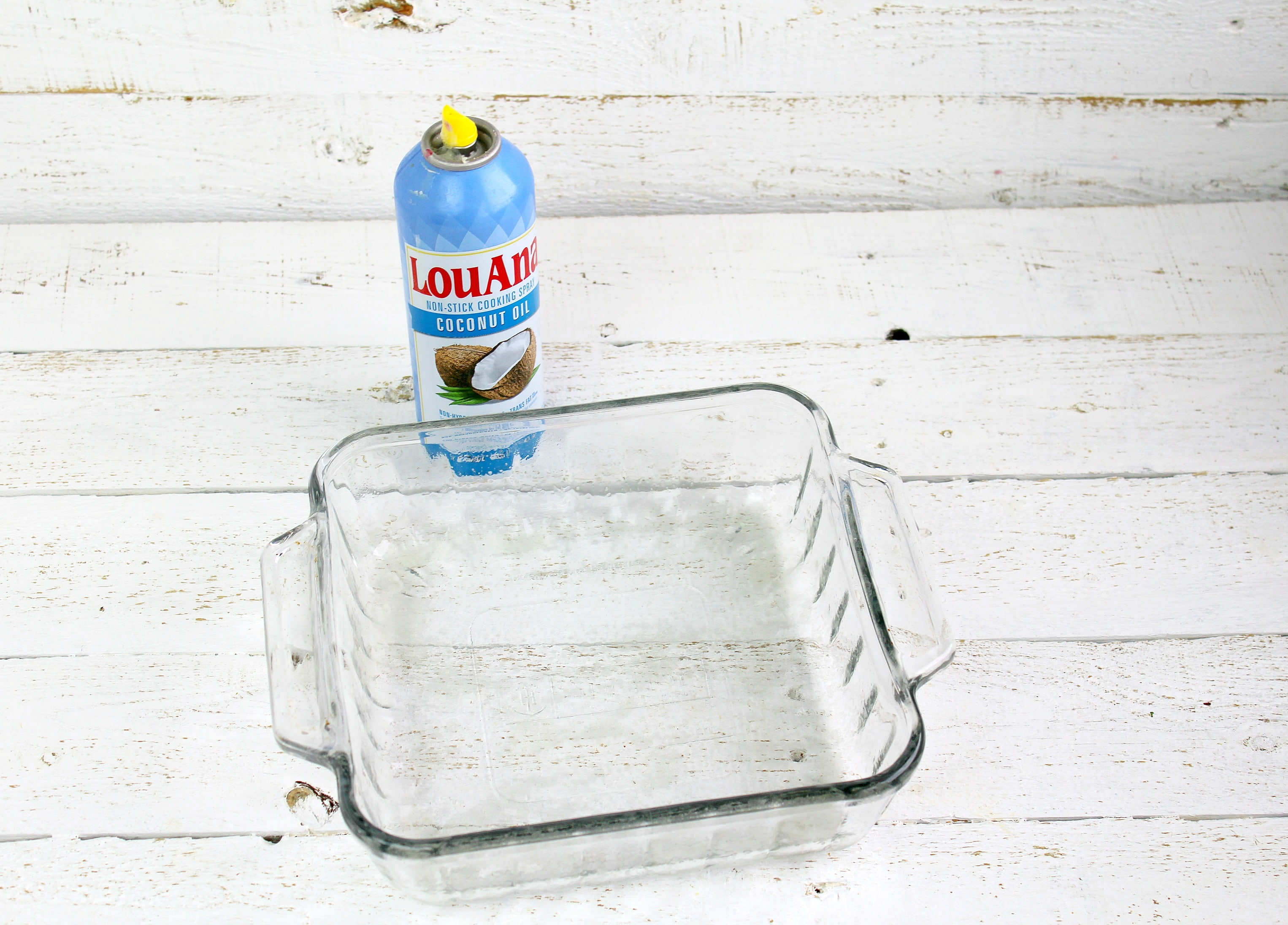 Coat a baking dish with non stick cooking spray