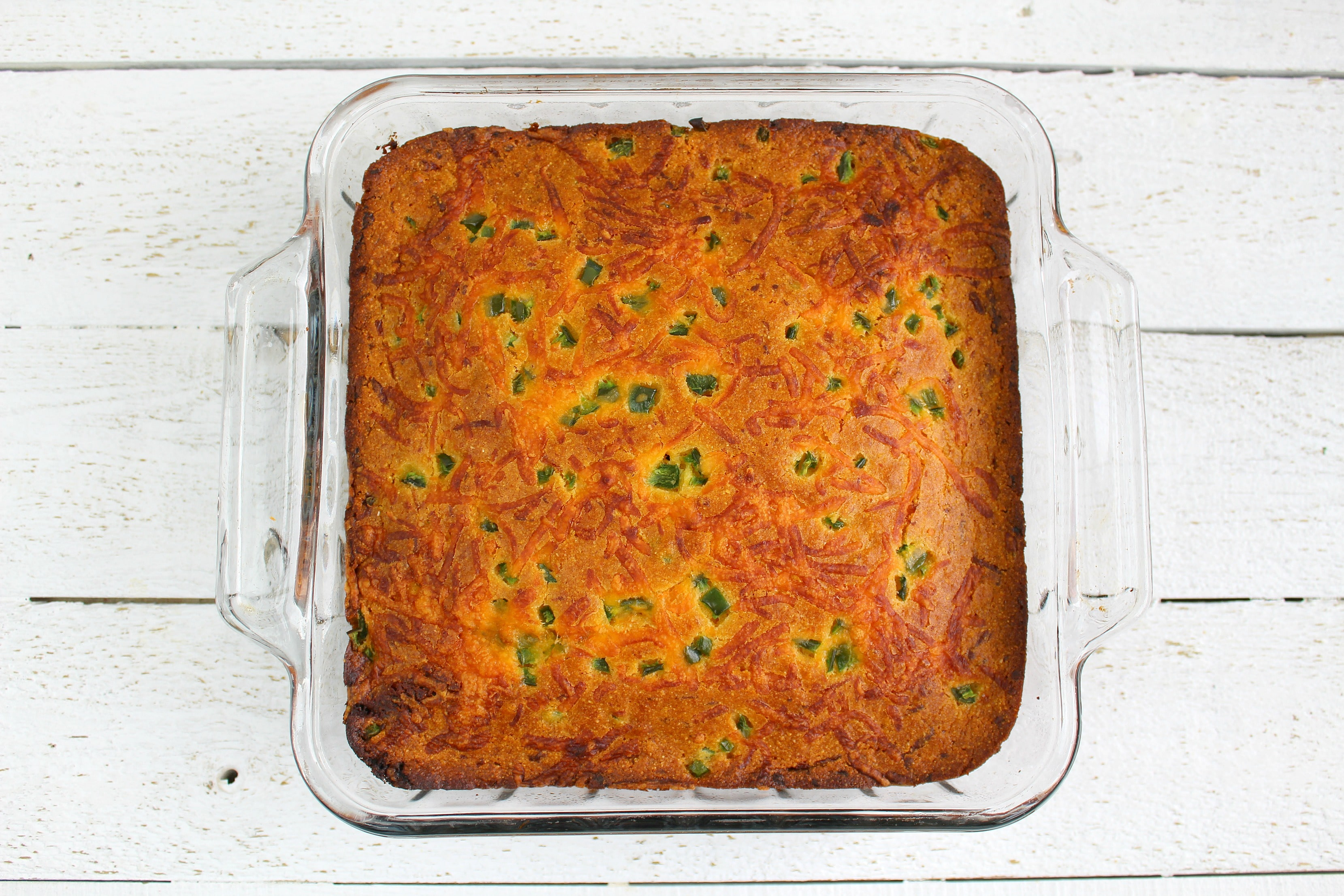 Serve this jalapeno cornbread plain or with honey butter