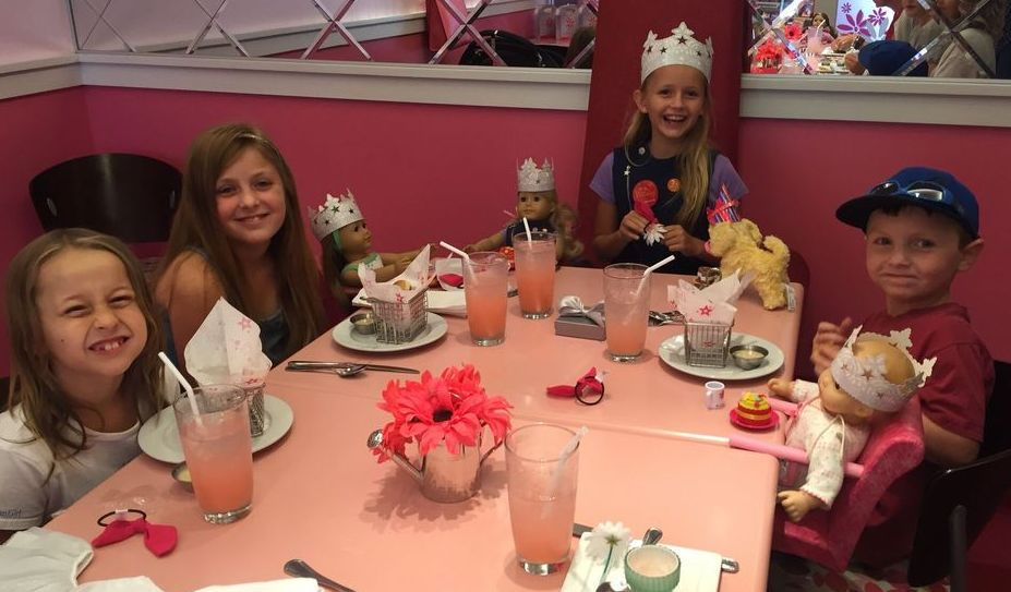 The American Girl Doll Place is great for a birthday party celebration.