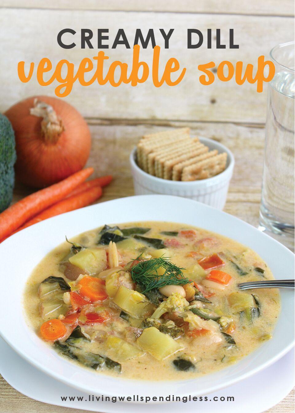 Creamy Dill Vegetable Soup Recipe | How to Make Vegetable Soup | Cream of Vegetable Soup with Dill Recipe | Vegetable Dill Soup Recipe | Vegetable Soup Recipe | Creamy Veggie Soup