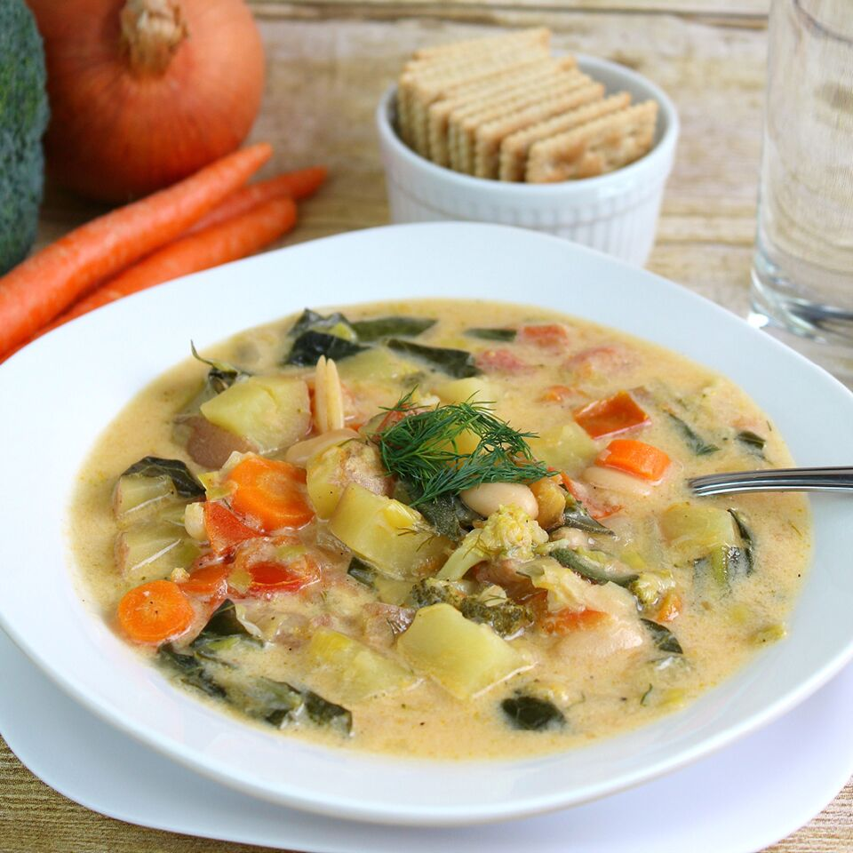 Creamy Dill Vegetable Soup Recipe |  Cream of Vegetable Soup with Dill Recipe | Vegetable Dill Soup Recipe | Vegetable Soup Recipe | Creamy Veggie Soup