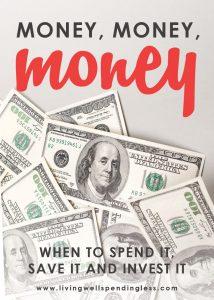 Money, Money, Money: When to Spend It, Save It, Invest It | Money Saving Tips | Smart Money | Investing Tips