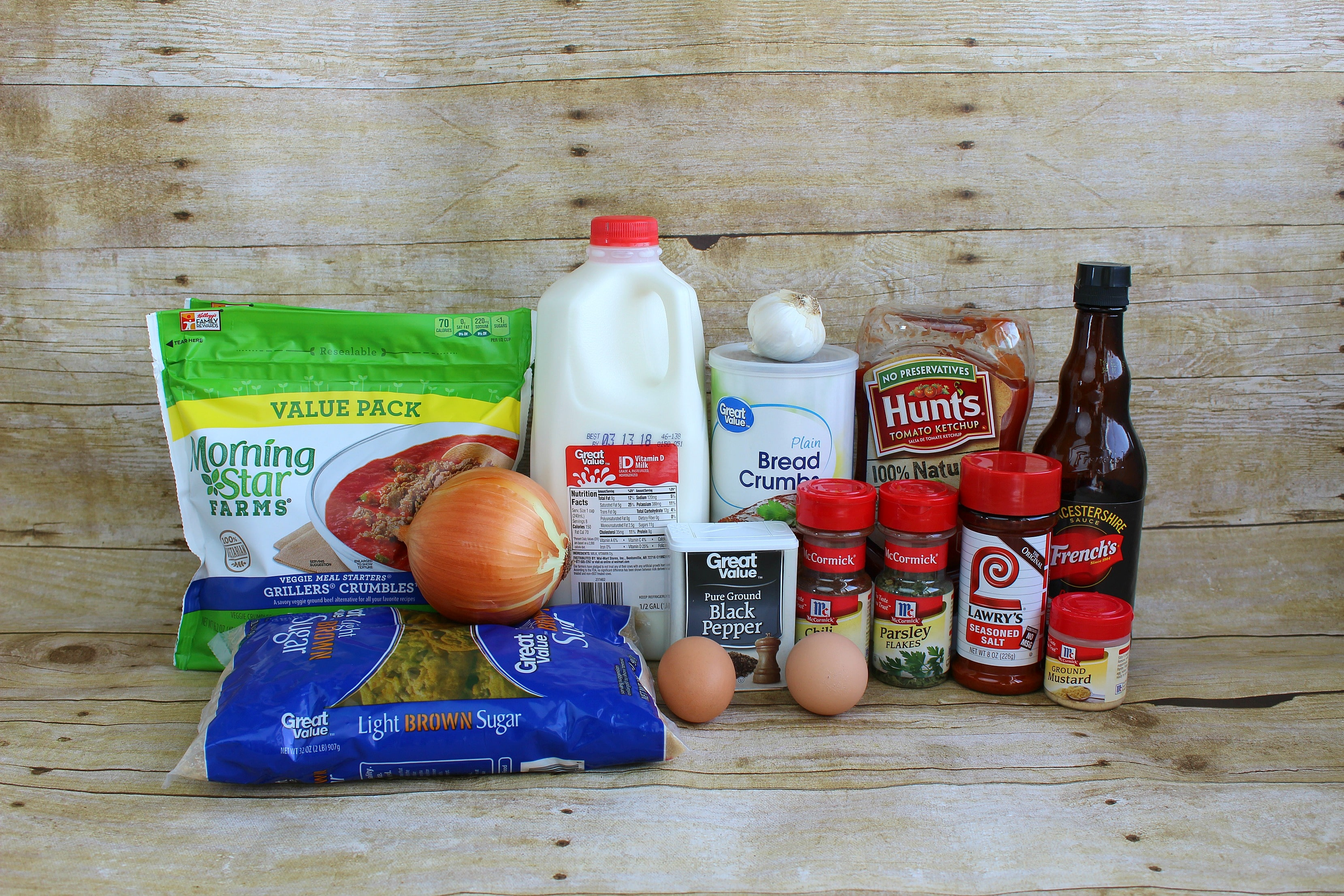 Vegetarian Meatloaf ingredients