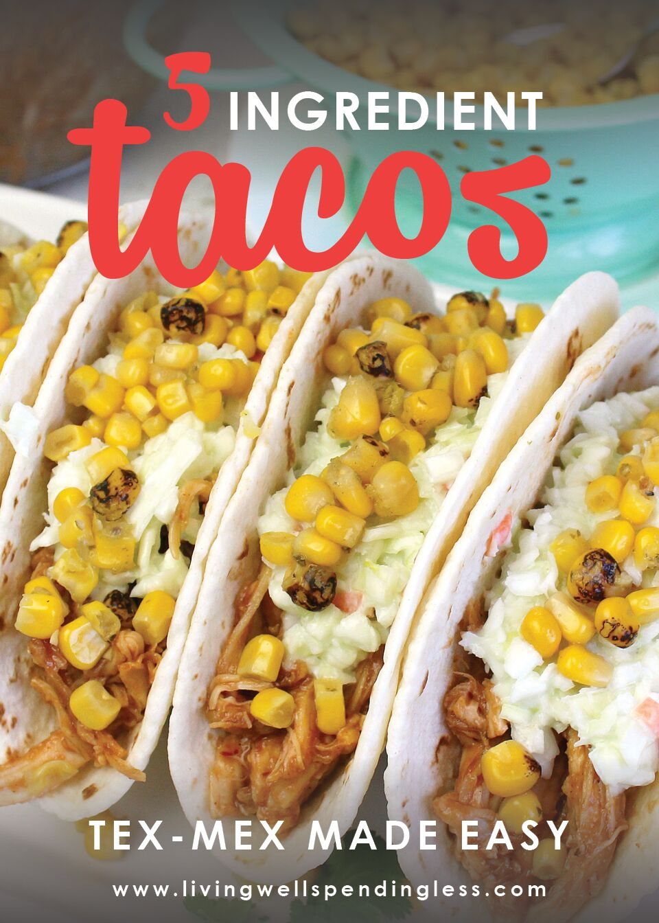 Want a flavorful and simple dinner idea that only uses 5 ingredients? Whether you are walking in the door late from work or needing to eat quickly to get the kids to soccer, these quick tacos are for you!