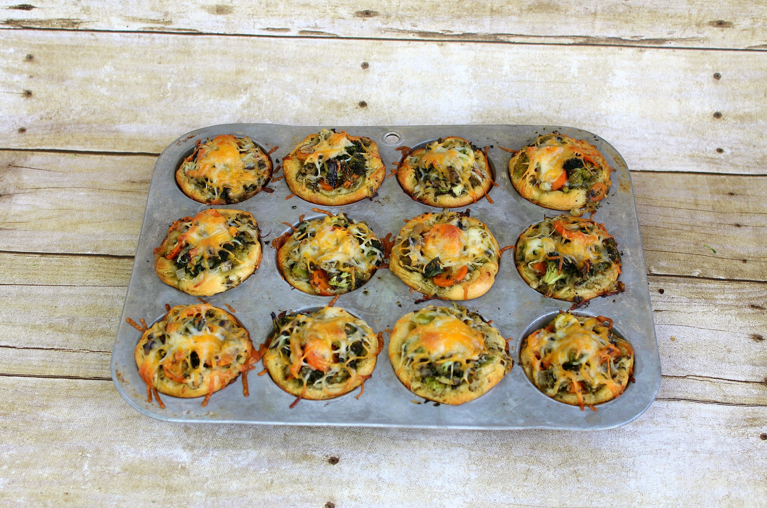 These roasted veggie cupcakes are perfect for a side dish or easy snack