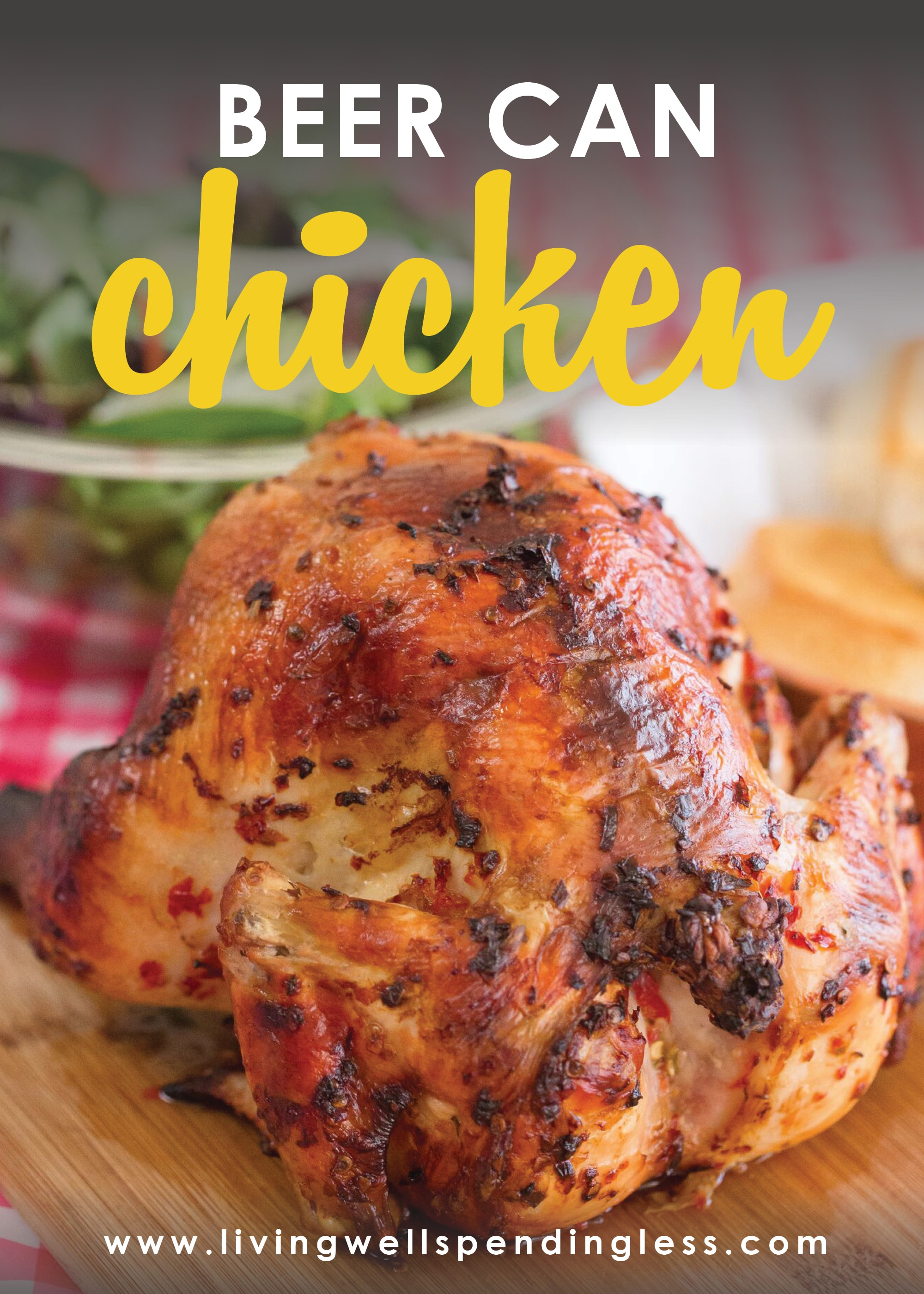 Beer Can Chicken | Easy 4 Ingredient Dinner Recipe from Living Well Spending Less