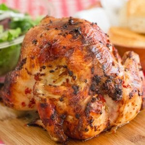 Beer Can Chicken | Easy 4 Ingredient Recipe perfect for summer grilling season.