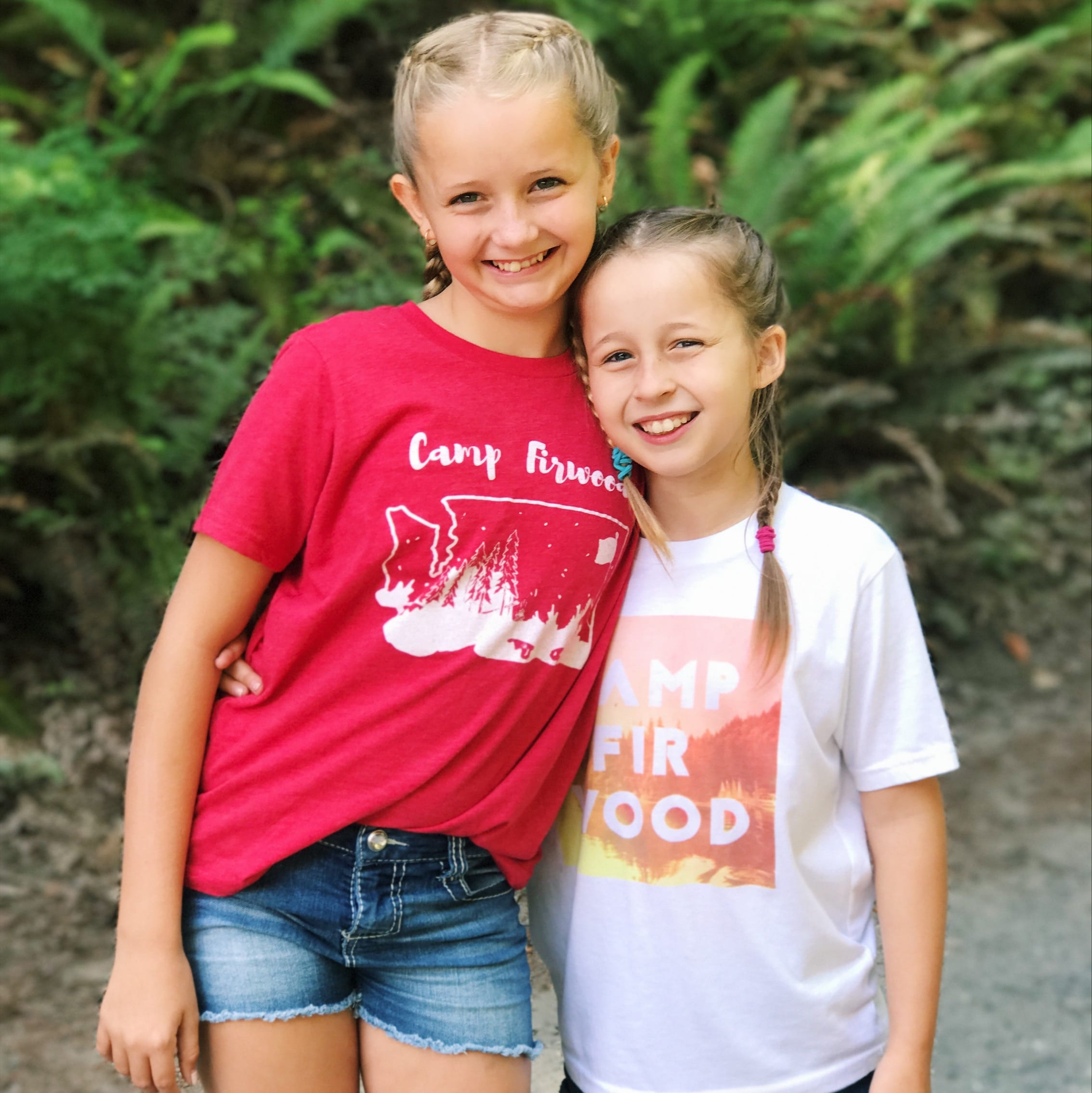 The girls in their Camp Firwood gear!