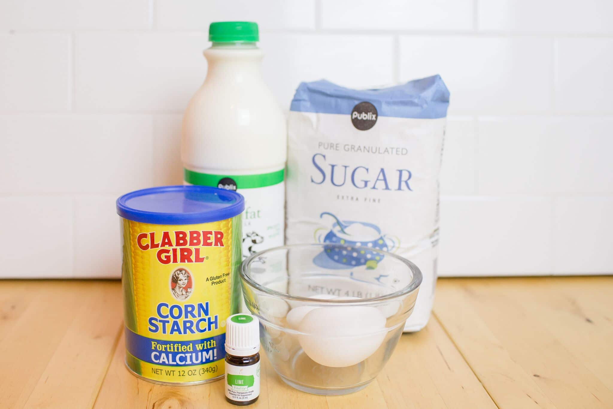 These simple ingredients are all you need for this delicious key lime pie custard