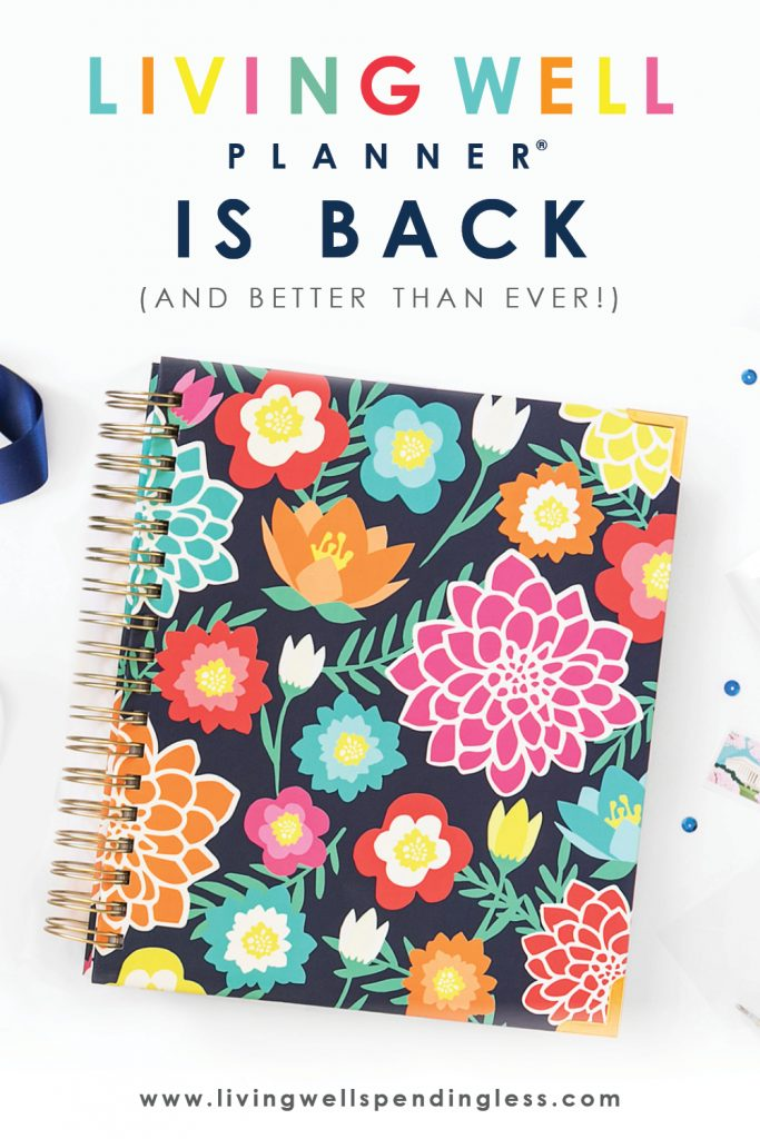 Our fresh new Living Well Planner® is now available and we can't WAIT to share it with you! In fact, we are pretty sure our latest edition is going to knock your socks off! Keep reading to find out more about what the next generation of the life-changing Living Well Planner® will include, and how you can get your hands on one!