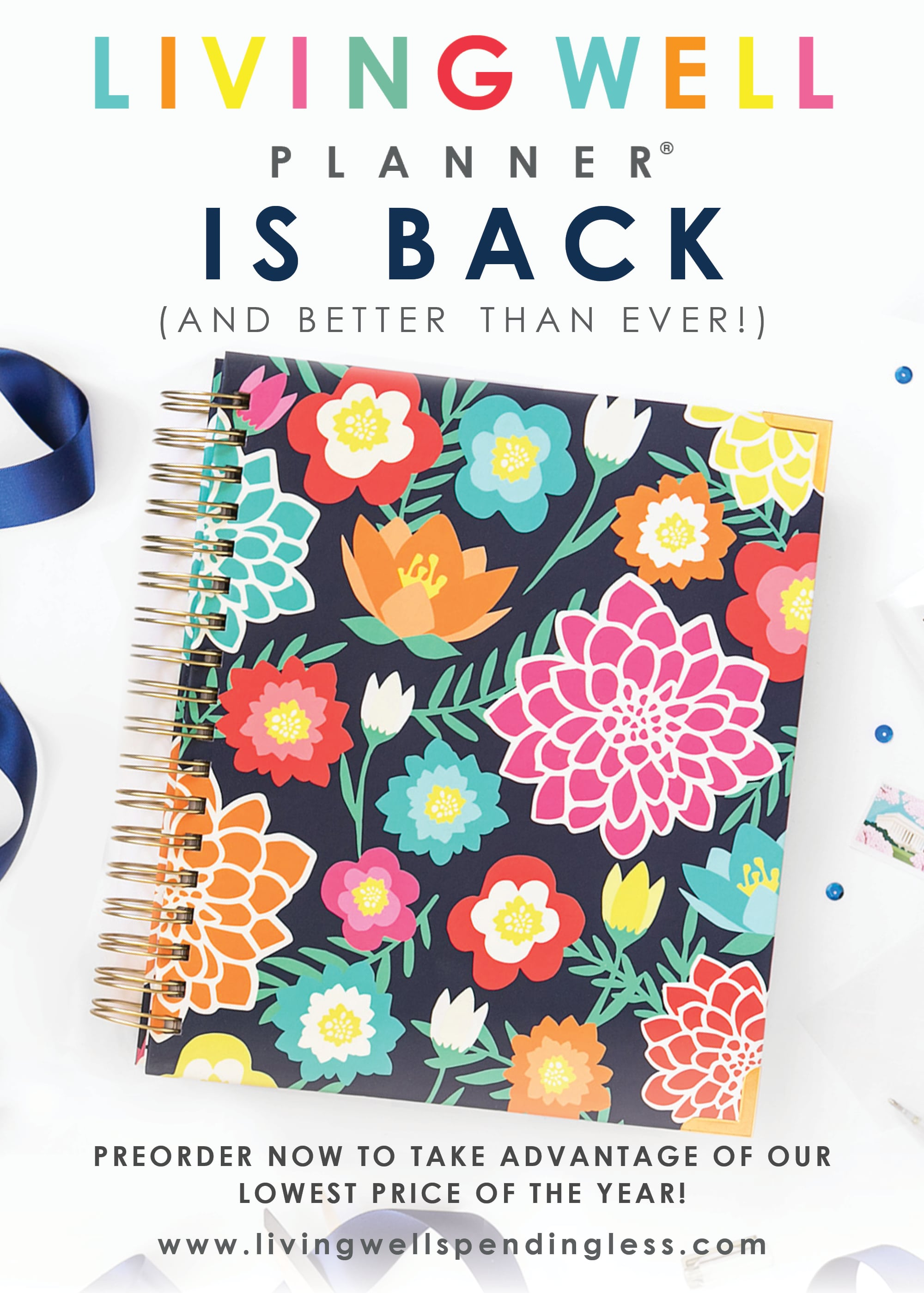 Our fresh new Living Well Planner® is now available for pre-order, and we can't WAIT to share it with you!  In fact, we are pretty sure our latest edition is going to knock your socks off!  Keep reading to find out more about what the next generation of the life-changing Living Well Planner® will include, how you can get your hands on one, and how you can take advantage of our lowest price of the entire year (plus get 2 AWESOME free gifts with your purchase!)