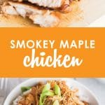 "Looking for a fresh new way to serve the ""same old chicken""? This quick and easy Smokey Maple Chicken is budget-friendly, delicious, and freezer friendly, too! #livingwellspendingless #freezermeals #recipes #freezercooking #budgetfriendly"