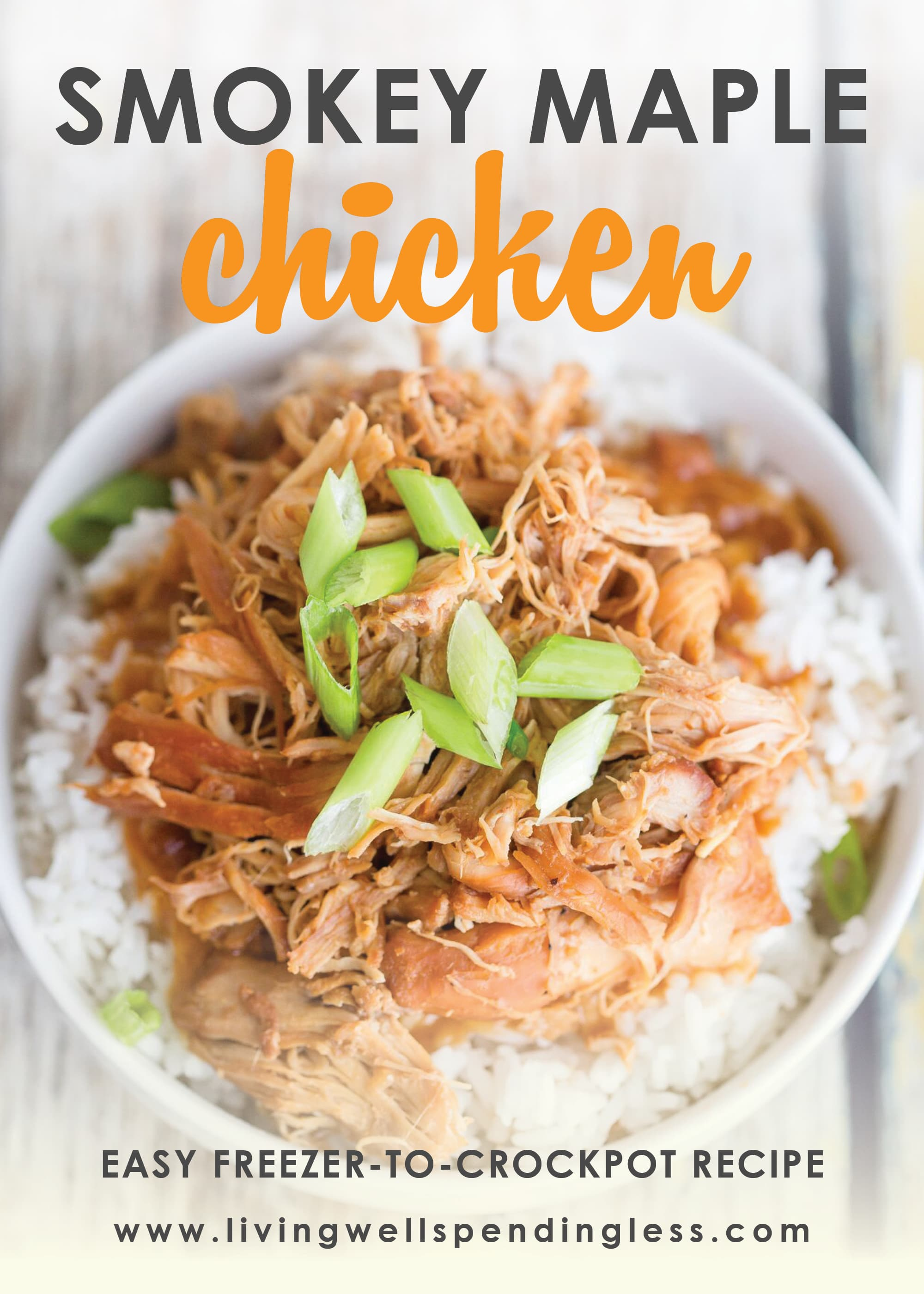 Smokey maple chicken freezer friendly recipe.
