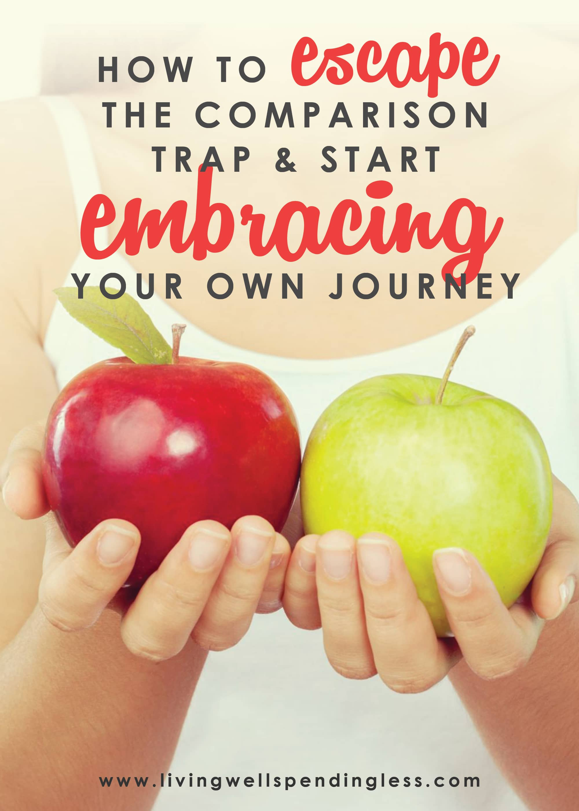 How to escape the comparison trap and start embracing your own journey.