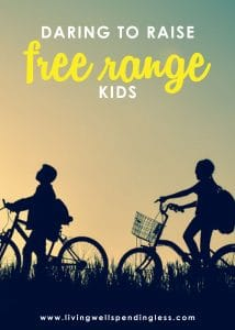"Let's be real, parenting is HARD. How do we balance our desire to give them everything with the need to let them figure things out for themselves? In this episode of the #doitscaredpodcast, where Ruth talks about how to raise ""free range kids"" and give them their indepenedence w/o neglecting your parental responsibilities! #livingwellspendingless #doitscared #doitscaredpodcast #doitscaredmovement #parenting #ruthsoukup"