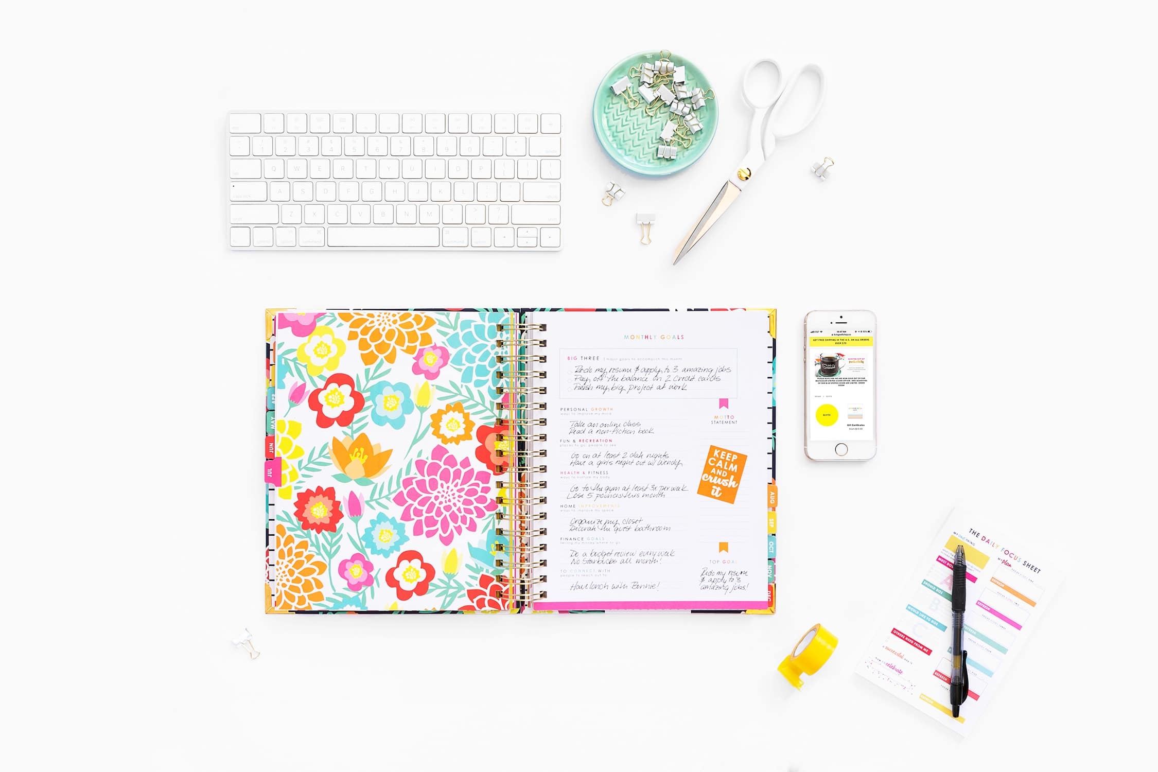 The Living Well Planner is your best friend and best tool to achieving your goals