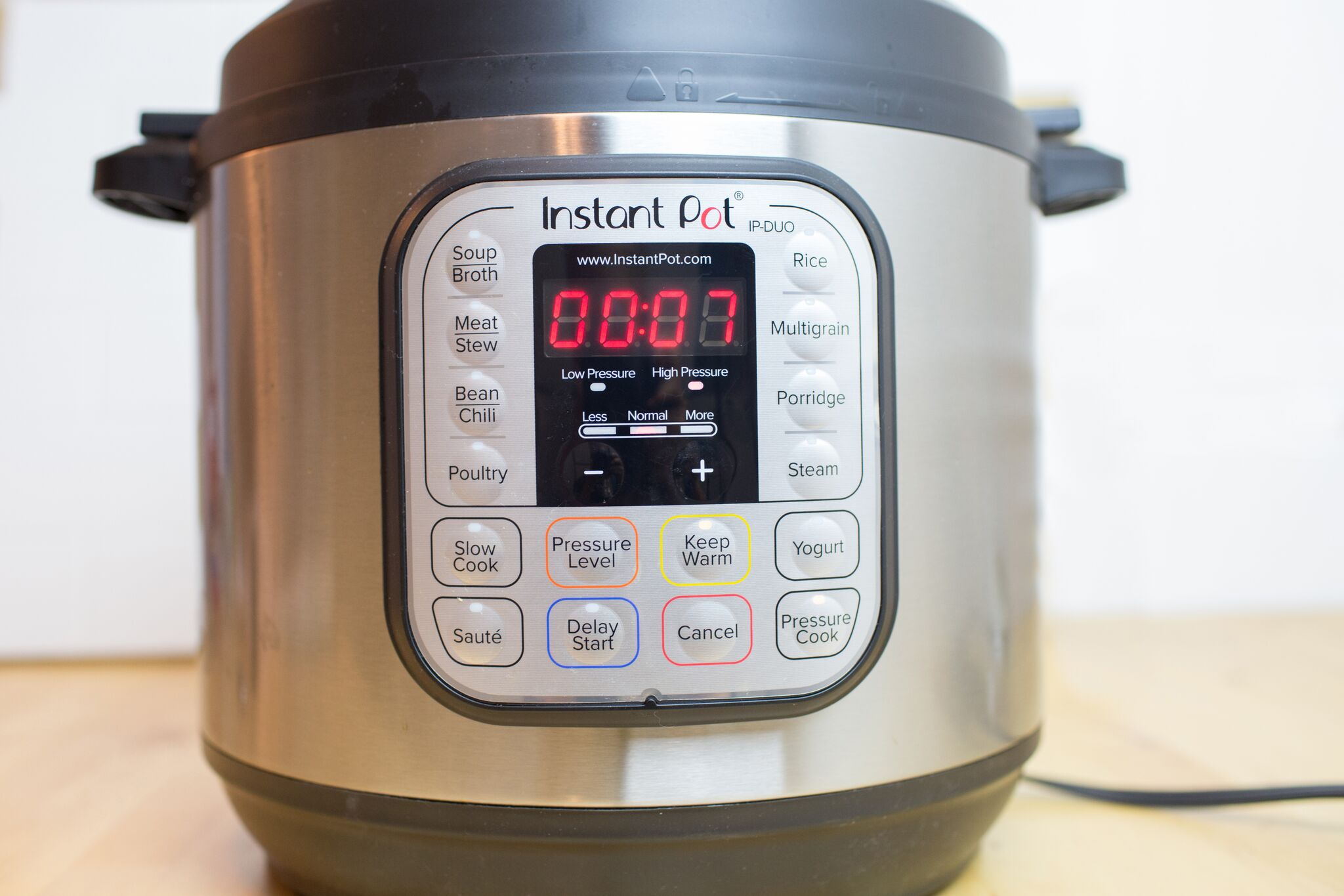 Secure lid on Instant Pot and cook apples on high pressure for 7 minutes.