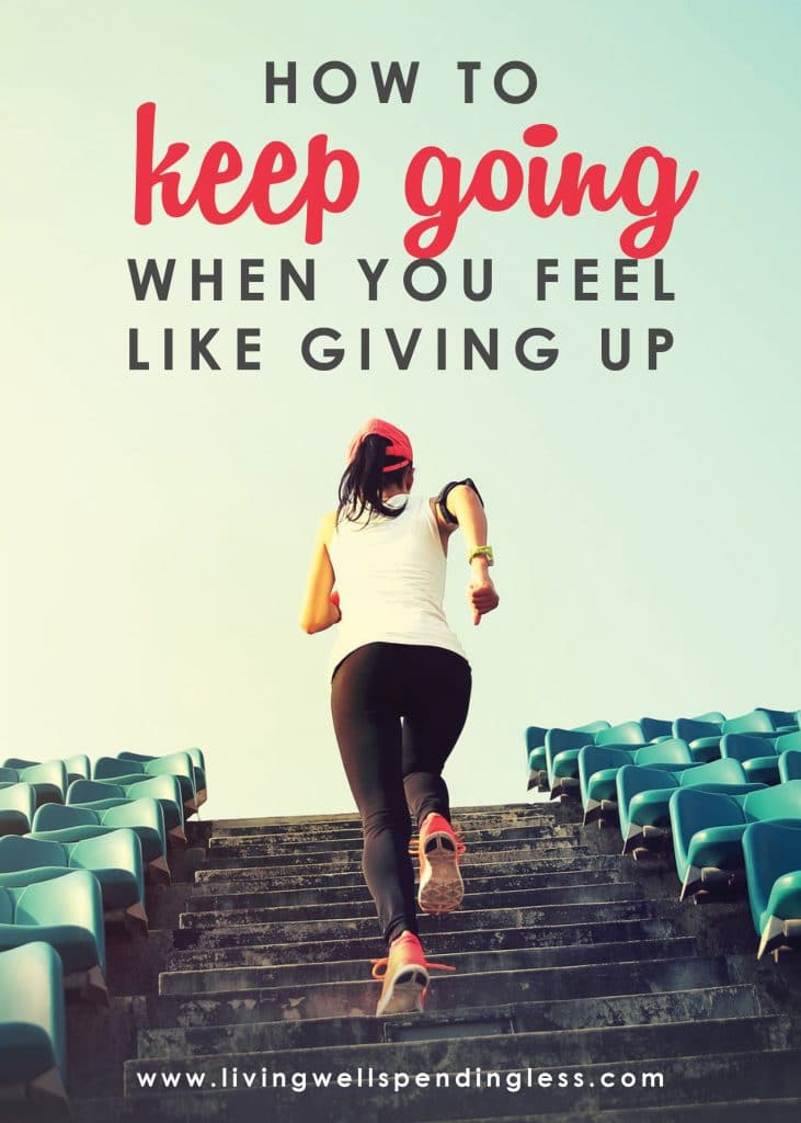 Have you ever felt like giving up? In this episode of the Do It Scared™ Podcast, Ruth talks about how having the grit and persistence to persevere is the key to success, and how YOU can keep going even when the going gets tough! #livingwellspendingless #ruthsoukup #doitscaredpodcast #inspiration #motivation #doitscared