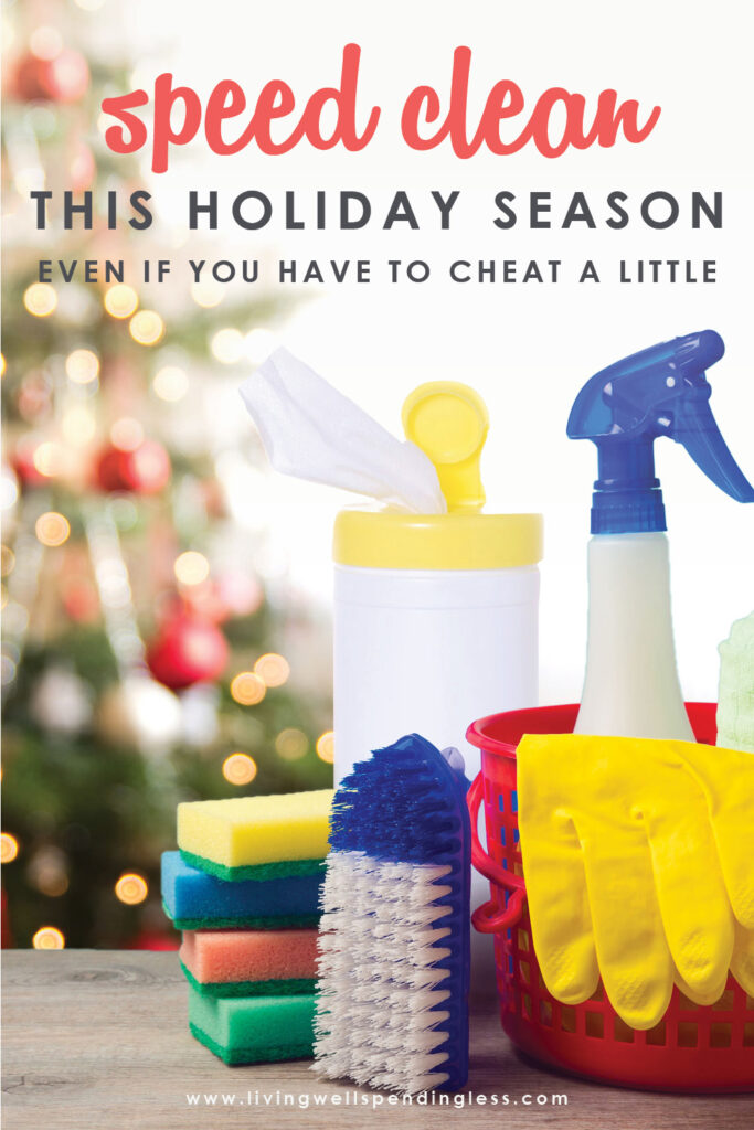Don't have any extra time to clean during the hustle and bustle of the holiday season? No sweat! Our holiday speed cleaning routine can help you tidy your home in half the time to help you keep your sparkle all season long!