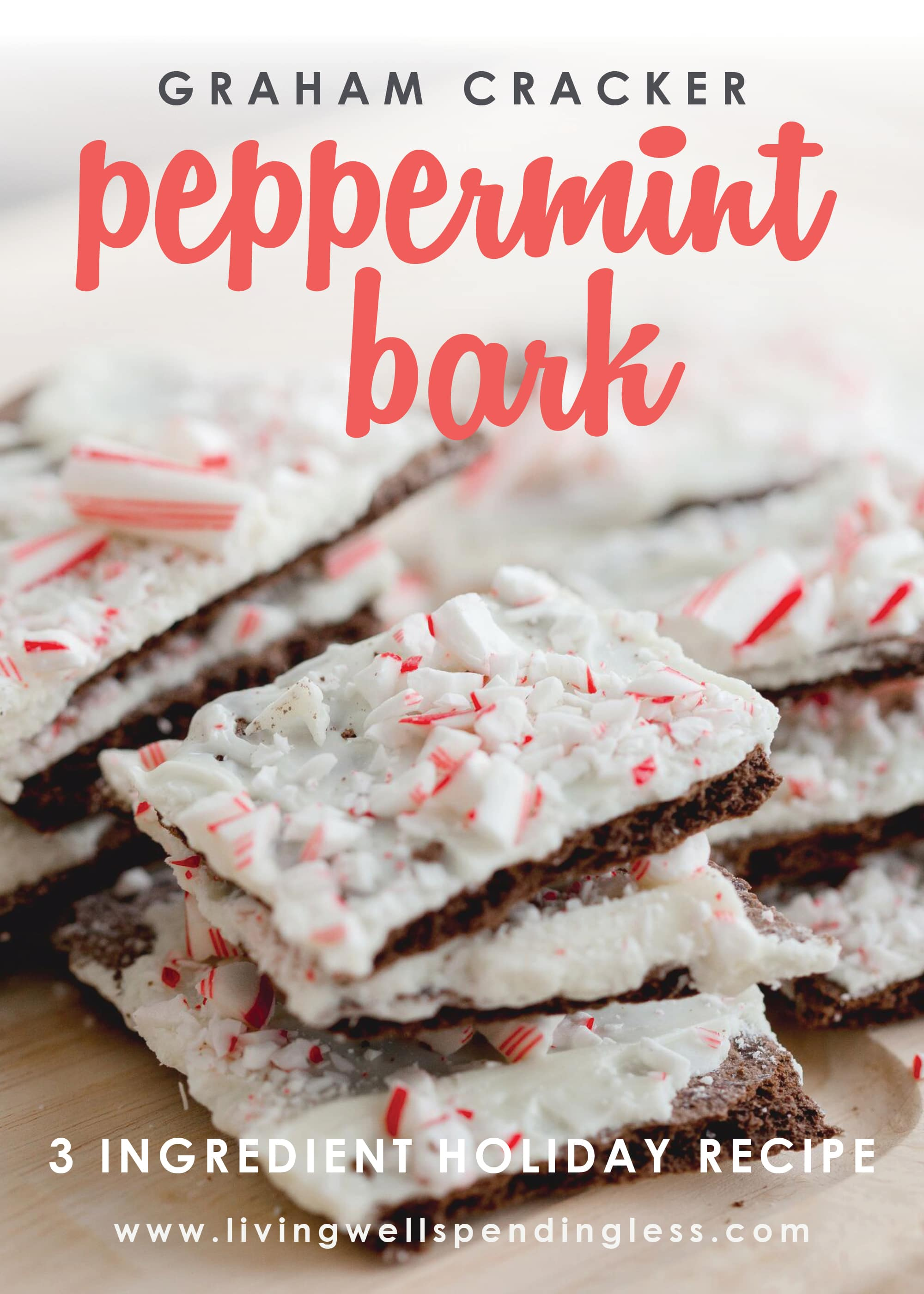 Looking for the perfect holiday recipe? This delicious semi-homemade peppermint bark comes together in as little as 20 minutes and uses just 3 ingredients!