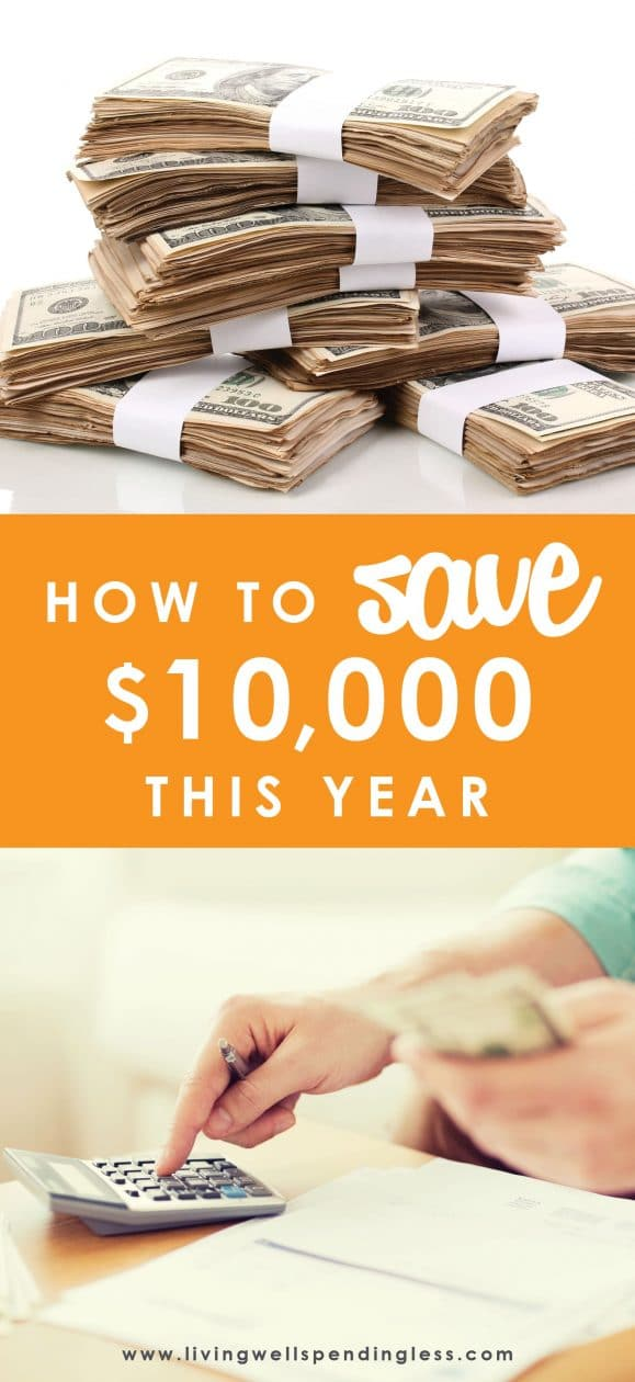 What could you do with an extra $10,000? Believe it or not, padding your bank account with some serious cash is not as hard (or as painful) as you might think.  In fact, a little proactive planning now could mean a lot more financial security come this time next year.  Don't miss this helpful post for practical, real-life advice for how to save $10,000 this year. How to Save $10,000 This Year | Save $10,000 | Saving Tips | Hacks on Saving