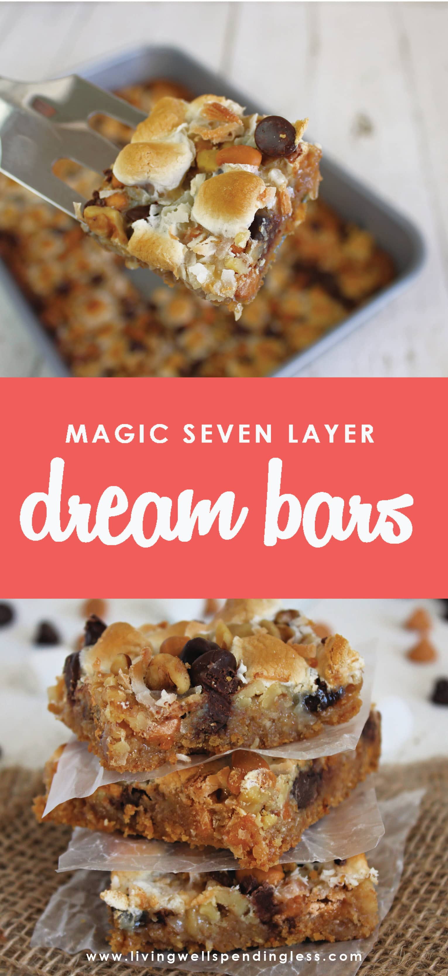 Looking for a simple dessert recipe the kids can make? Look no further, this 7 layer bar recipe is pure deliciousness! And ready in less than 30 minutes.