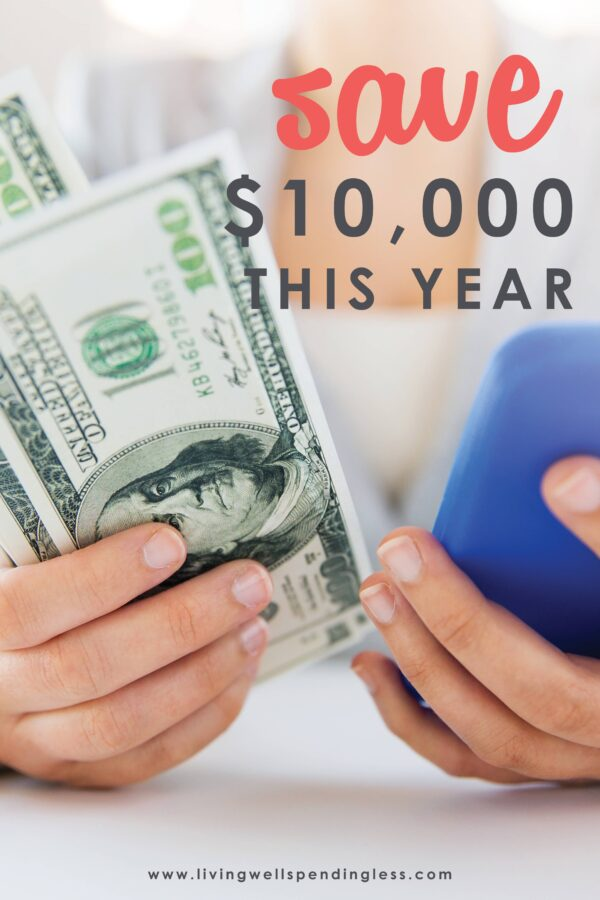 What could you do with an extra $10,000? Believe it or not, padding your bank account with some serious cash is not as hard (or as painful) as you might think. In fact, a little proactive planning now could mean a lot more financial security come this time next year. This helpful post will give you practical and real-life advice on how to save $10,000 this year. #savingtips #financialsecurity #savemoney #emergencyfund