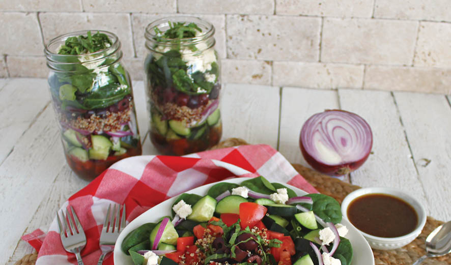 Layered Mason Jar Salad